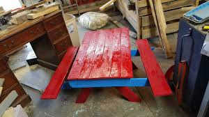 child s picnic table sandbox