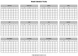 12 Month Calendar Template Excel Yearly Calendar Template Perpetual ...