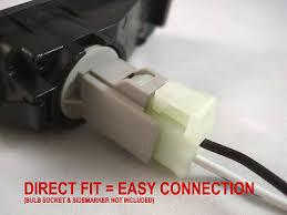 marker light wiring harness marker image wiring 2 pin wiring harness jdm amber side marker lights pair for on marker light wiring harness