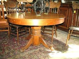 antique oak pedestal table value oak pedestal table outstanding keystone collections double
