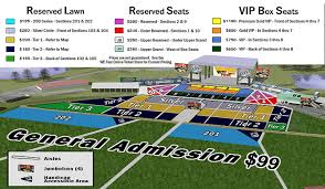 We Fest Seating Chart 2016