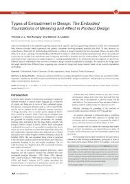 Types Of Product Design Pdf Types Of Embodiment In Design The Embodied Foundations