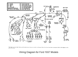 flathead electrical wiring diagrams wiring for 1937 ford car
