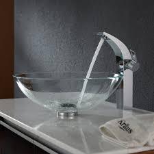bathroom vessel sink installation modern decoration