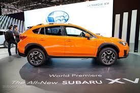 2018 subaru xv red. wonderful 2018 2018 subaru xv debuts in geneva as imprezau0027s rugged brother for subaru xv red