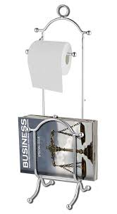 Chrome Toilet Paper Holder Magazine Rack Custom Home Basics Free Standing Chrome Toilet Paper Holder With Magazine