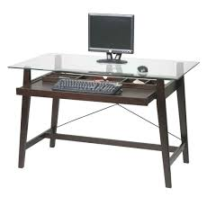 office desk glass top. Glass Office Table Tribeca Tempered Top Computer Desk In Espresso