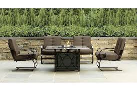 fire pit table with chairs. Natural Gas Fire Pit Table Global Outdoors Costco Propane Set With Regard To Outdoor Pits Prepare Chairs