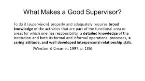 essay on a good supervisor  essay on a good supervisor