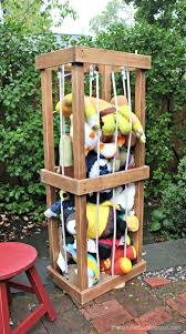DIY Stuffed Animal Zoo Tower. Finally a place for all those stuffed  anilmals! Easy to build plans by ANA-WHITE.com