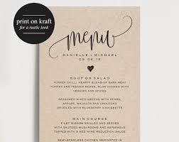 Free Printable Menu Card Template Lovely 36 Wedding Menu
