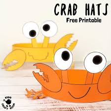 Free Craft Printables Templates Free Printable Crab Hats Craft Template Kids Craft Room
