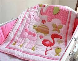 flamingo baby nursery pink crib bedding designs with regard to design bedroom