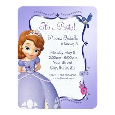 Sofia The First Birthday Invitation Zazzle Adorable Birthday Invitation Pictures
