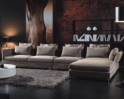 ... L Shaped Living Room Amazing Wall Decorating Idea Also Black Laminate  Floor Feat Thick Shag Rug ...