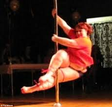 Pole dancing fat girl