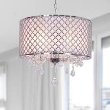 crystal chandelier with drum shade. Dining Room - Carina Chrome Finish Drum Shade Crystal Chandelier Overstock™ Shopping Great Deals On Otis Designs Chandeliers \u0026 Pendants With N