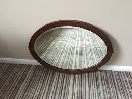 used vintage wooden oval mirror in hinckley and bosworth for 15 00 shpock