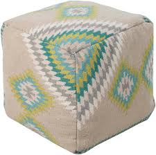 beth lacefield cube wool pouf  home accents  surya