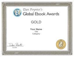 Gold Medal Winner Certificate