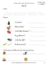 PRINTABLE BEGINNER ESL PRE-JUNIOR WORKSHEET 30 - HOLIDAYS
