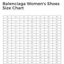 Balenciaga Runners Shoe Size Chart Best Picture Of Chart