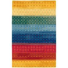 couristan oasis rainbow multi color contemporary striped rug 6156 0202x