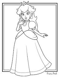 Small Picture jimbos Coloring Pages Princess Peach Coloring Page Mario