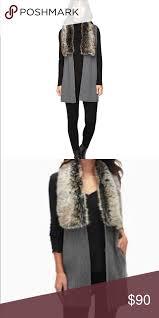 Splendid Vail Faux Fur Collar Vest Xs S Nwt Splendid Vail