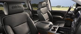 2018 chevrolet 1500 high country black leather interior cabin with center console configuration