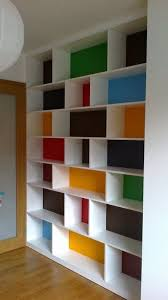 painting shelves ideasThis multicolored bookshelf is so fun  House Ideas  Pinterest