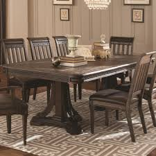 carlsbad dining table with metal accents coaster