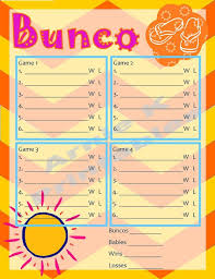 Bunco Score Sheets Template Extraordinary 48 Best Bunco Ideas Images On Pinterest Snacks Clean Eating