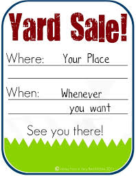 free garage sale signs the red kitchen how to host a successful yard sale and free yard