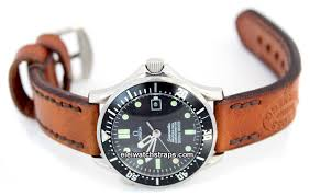 zoss hand made vintage style ammo leather watch strap for omega seamaster professional eieiwatchstraps com