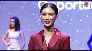 เฌอเอม ชญาธนุส ศรทัตต์   Miss Universe Thailand 2020 - Audition Day -  YouTube