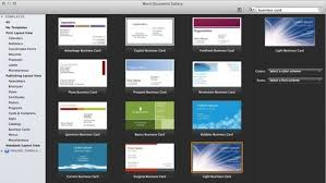 Microsoft Office Business Card Templates 751