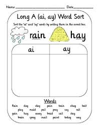 Ai ay phonics digraph song. Vowel Digraph Teams Word Sort Set Oi Oy Ai Ay Ou Ow Etc Word Sorts Teaching Phonics Team Word