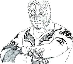 Sin Cara Coloring Page Design Templates