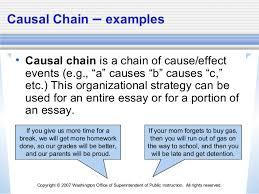 organizational structure causal chain 6