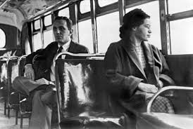 montgomery bus boycott united states history com rosa parks sitting on a bus in montgomery alabama 1956