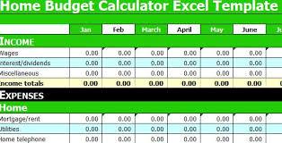 Home Budget Calculator Excel Template Home Budget Calculator