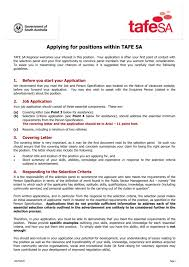 Skills Relevant To The Position S You Are Applying For Applying For Positions Within Tafe Sa Tafe Sa Regional Welcomes