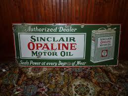 sinclair opaline porcelain motor oil sign