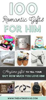 100 romantic gifts for him banner