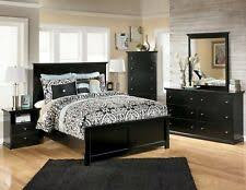 Ashley Coal Creek 6 Piece King Panel Bedroom Set in Dark Brown | eBay