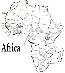 Best Empty Map Of Africa Ideas Printable Map New Bartosandrini Com