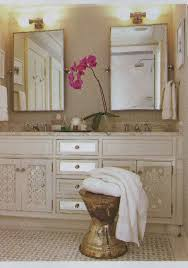 Rustic Bathroom With Phoebe Hand Towel Bars And Double Mirror - Bathroom towel bar height