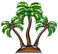 exquisite decoration palm tree wall art metal island trees leaf decor wooden