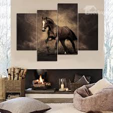 53 stunning unique design horse pattern 4 panels canvas framed decorative wall picture prints